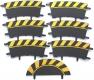 Carrera 132 / 124 20564_oSG Außenrandstreifen Steilkurve 1/30° schwarz/gelb, 6 Stück ohne OVP